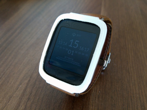 Asus Zenwatch Bumper Case in White Strong & Flexible Polished