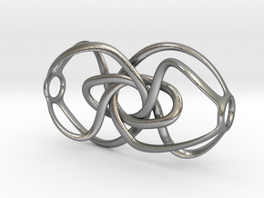 Expanding Knot - Pendant in Raw Silver