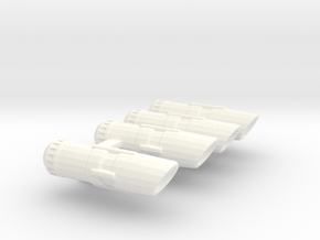 Set of Smaller nacelles in White Strong & Flexible Polished