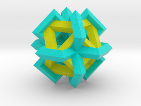 Cuboctahedron of Linked Frames in Full Color Sandstone