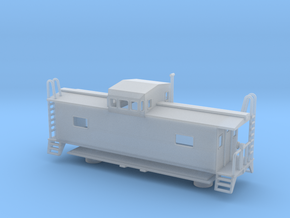 Monon Caboose - Nscale in Frosted Ultra Detail