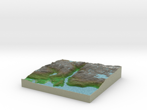 Terrafab generated model Tue Jan 21 2014 22:35:48  in Full Color Sandstone