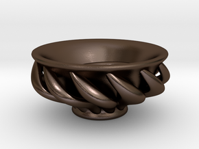 "Spiral ""Guinomi"" Cup-01 in Polished Bronze Steel"