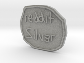 Reddit Silver Coin in Metallic Plastic