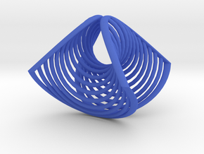 plane circle concave convex | ring 0.7 in Blue Strong & Flexible Polished