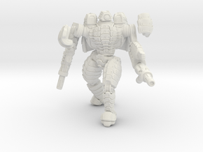 Mech suit with twin weapons (5) in Full Color Sandstone
