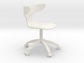1:24 Curved Bentwood ArmChair (Not Full Size) in White Strong & Flexible