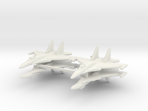 Su-37 1:600 x4 in White Strong & Flexible