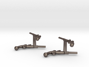 Dueling Pistol Cufflinks in Stainless Steel