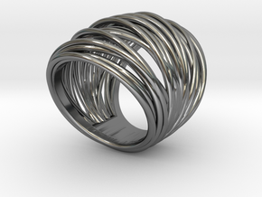 38mm Wide Wrap Ring Size 8 in Premium Silver
