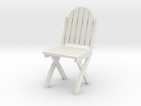 1:24 Wood Folding Chair (Not Full Size) in White Strong & Flexible