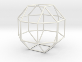 SmallRhombicuboctahedron 100mm in White Strong & Flexible