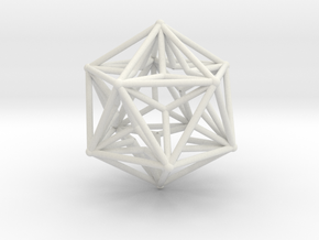 Great Dodecahedron 1.5 in White Strong & Flexible