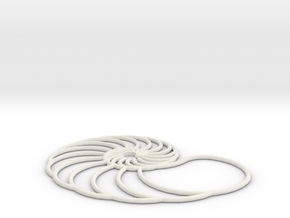 nautilus pendant arched in White Strong & Flexible