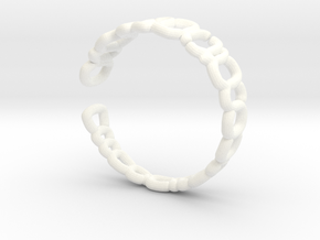 Ring-pipelines-sh03 in White Strong & Flexible Polished