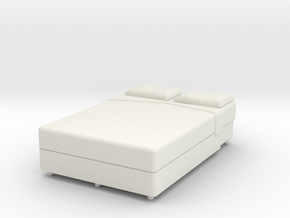 Double Bed - OO Scale in White Strong & Flexible