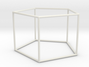 pentagonal prism 70mm in White Strong & Flexible