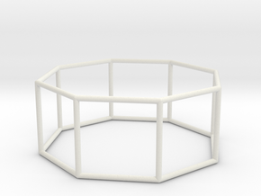 octagonal prism 70mm in White Strong & Flexible