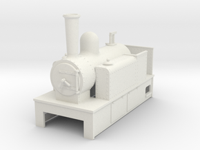 O9 side tank tram loco #3 in White Strong & Flexible