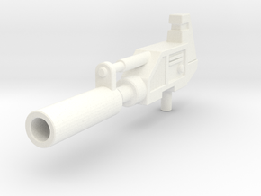 Prowldimus Gun  in White Strong & Flexible Polished