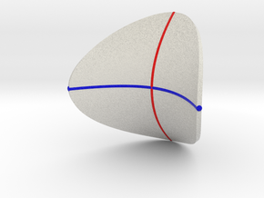 Hyperbolic Paraboloid with Curvature Curves in Full Color Sandstone