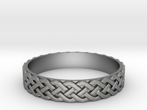 Celtic ring 01 in Raw Silver