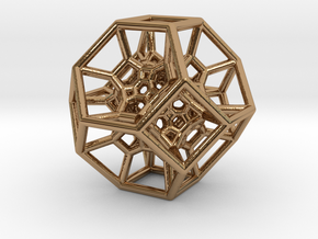 Octahedral Inversion pendant in Polished Brass