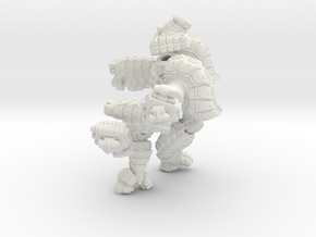Mech suit with twin missile pods. (11) in White Strong & Flexible