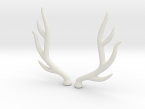 bjd elk deer horns  in White Strong & Flexible