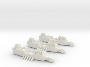 Fantasy Fleet Frigates in White Strong & Flexible