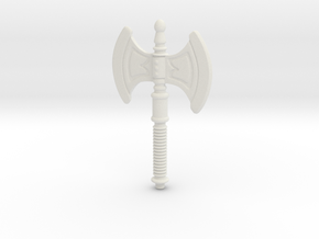 He-Man's Battle Axe for Lego in White Strong & Flexible