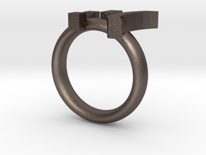 Cry Emoticon Ring :'( in Stainless Steel
