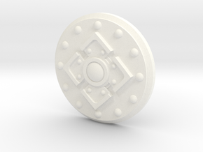 King's Shield in White Strong & Flexible Polished