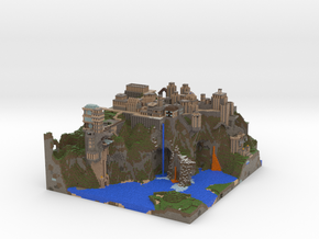 Mountain City from Squid Server in Full Color Sandstone