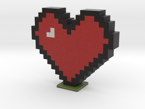 Minecraft heart in Full Color Sandstone