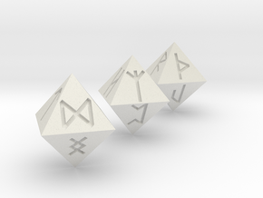 Rune Dice in White Strong & Flexible