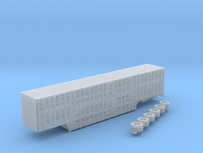 1:160 N Scale 3 Axle 53' Wilson Livestock Trailer in Frosted Ultra Detail