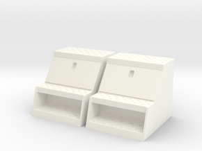 """1/14th Scale Toolbox, 24"""" to fit Tamiya trucks in White Strong & Flexible Polished"""
