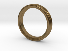 Stacked Ring - US Size 7 in Raw Bronze