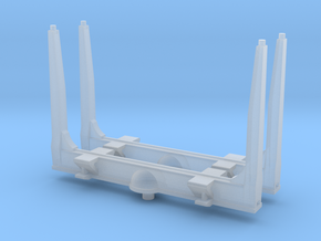 1/160 N scale Log bunks, gun barrel type in Frosted Ultra Detail