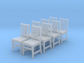 1:48 Arts & Crafts Chair, Set of 8 in Frosted Ultra Detail