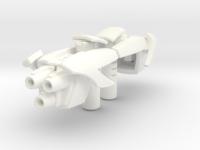 TF: Prime Cliffjumper blasters in White Strong & Flexible Polished