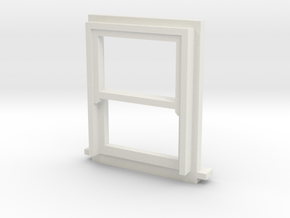 900 X 1200 Sash Window 4mm Scale in White Strong & Flexible