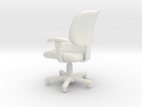 1:24 Office Chair 1 (Not Full Size) in White Strong & Flexible