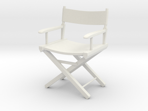 1:24 Director's Chair 1 (Not Full Size) in White Strong & Flexible