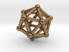 Icosahedron Magnetix in Raw Brass