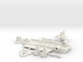steering chassis for 1/43rd slotcars in White Strong & Flexible