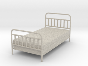 1:24 iron Bed in Sandstone