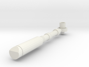 BJD, MSD Handheld Sci-Fi Torch Prop v.01 in White Strong & Flexible