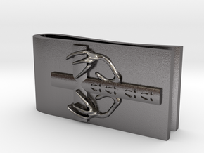 Money Clip Spirit Of The Deer in Polished Nickel Steel